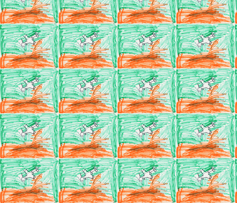 Sunset Flight fabric by serenity_ii on Spoonflower - custom fabric
