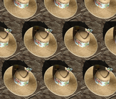 Straw Hat fabric by snickerslynn on Spoonflower - custom fabric