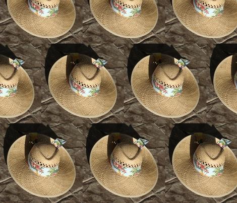 Straw Hat fabric by snickerslynn on Spoonflower - custom fabric