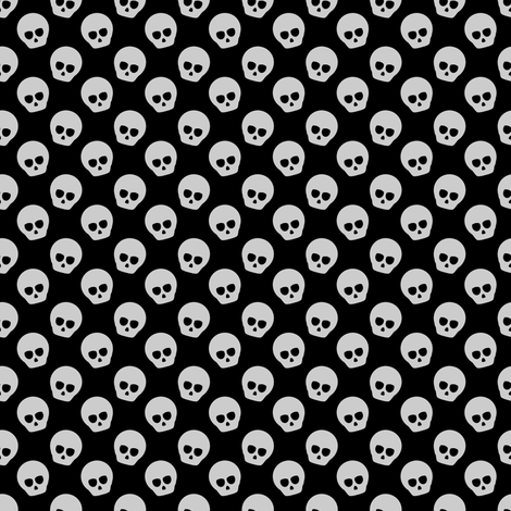 Tiny Skulls fabric by spacefem on Spoonflower - custom fabric