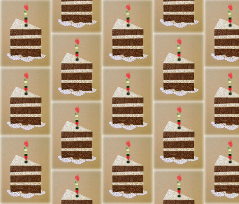 cake - chocolate fabric by brenda_marshall on Spoonflower - custom fabric