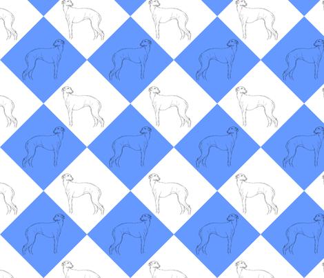 Whippet diamonds - blue