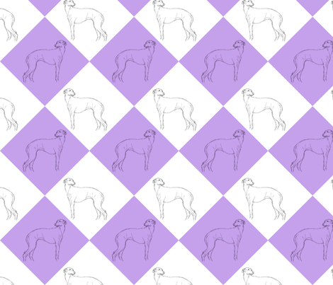 Whippet diamonds - purple