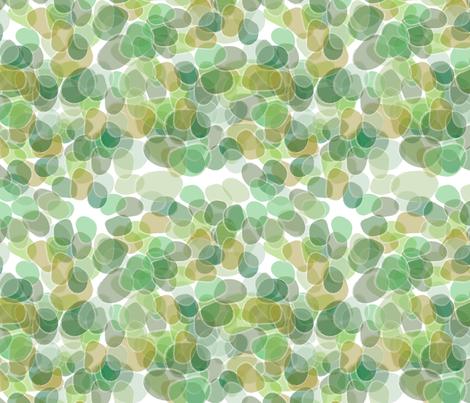 Sea Glass - Greens fabric by owlandchickadee on Spoonflower - custom fabric