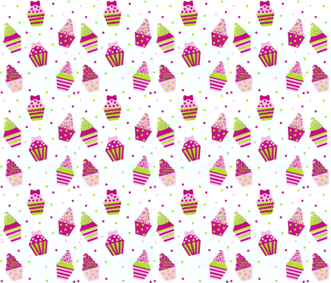 Peace. Love. & Cupcakes! fabric by brittanysantos on Spoonflower - custom fabric