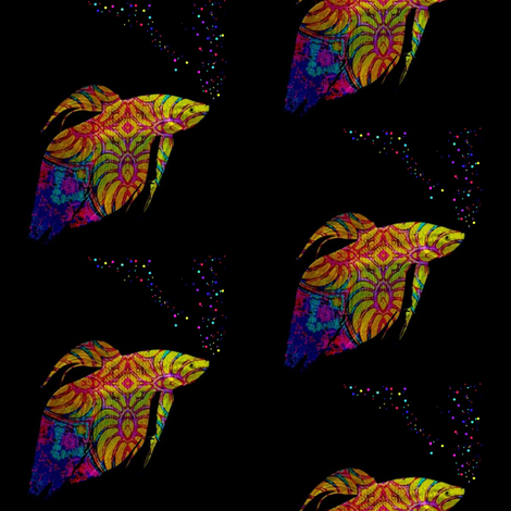 Fish School:  Phylum Chordata Rainbow fabric by dovetail_designs on Spoonflower - custom fabric
