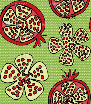 Pomegranate Fruit - green texture