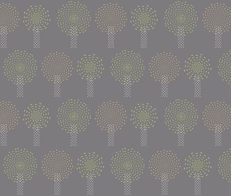 Pom Pom Trees fabric by fridabarlow on Spoonflower - custom fabric