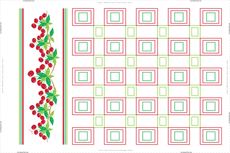 Sweet Cherry Tea Towel fabric by designtrends on Spoonflower - custom fabric