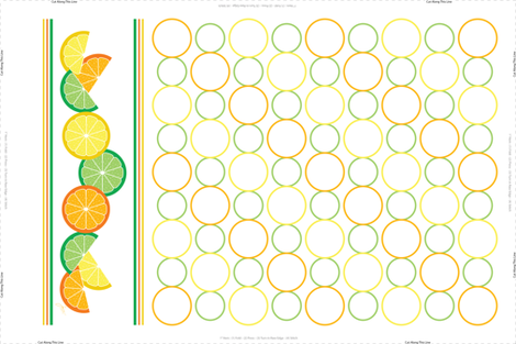 Sunny Citrus Tea Towel fabric by designtrends on Spoonflower - custom fabric