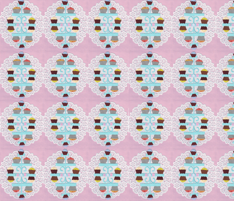 Cupcake Damask fabric by graceful on Spoonflower - custom fabric