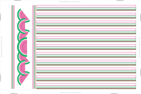 Pink Watermelon Tea Towel fabric by jjtrends on Spoonflower - custom fabric