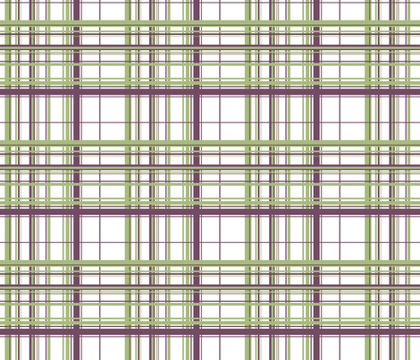 Green & Purple Plaid w/ White Background fabric by ruthevelyn on Spoonflower - custom fabric