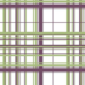 Green & Purple Plaid w/ White Background
