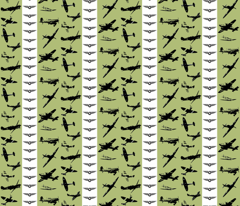Retro Aviator Olive Stripe fabric by smuk on Spoonflower - custom fabric