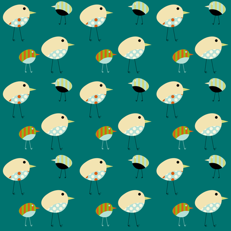 Fabric Birds - Harper fabric by giddystuff on Spoonflower - custom fabric
