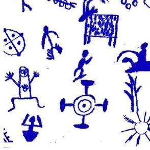 Blue Petroglyphs