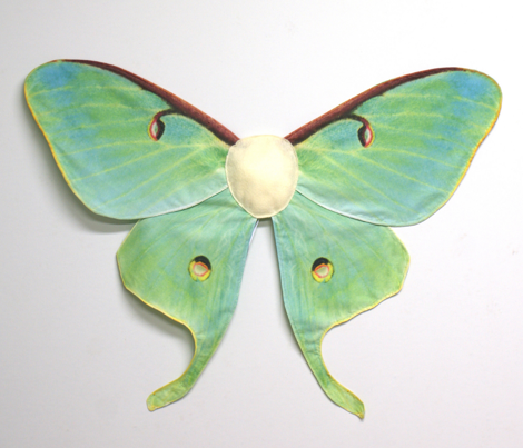 Medium Luna Moth Costume Wings