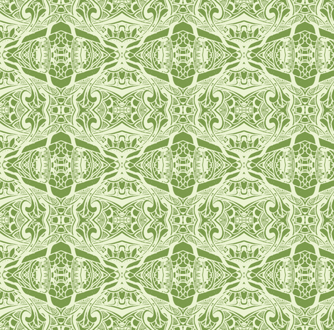 Two Shades of Green on a Play Date fabric by edsel2084 on Spoonflower - custom fabric