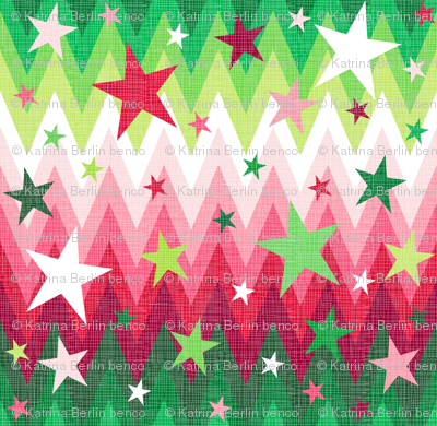 Maddox's ombre Christmas stars