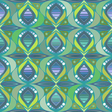 peacock parlour fabric by scrummy on Spoonflower - custom fabric