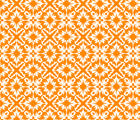 Orange splatter fabric by meaganrogers on Spoonflower - custom fabric