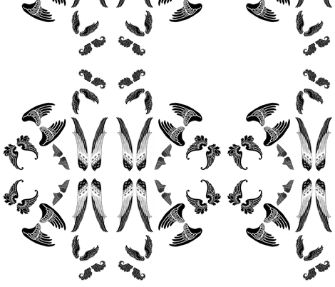 wings fabric by tequila_diamonds on Spoonflower - custom fabric