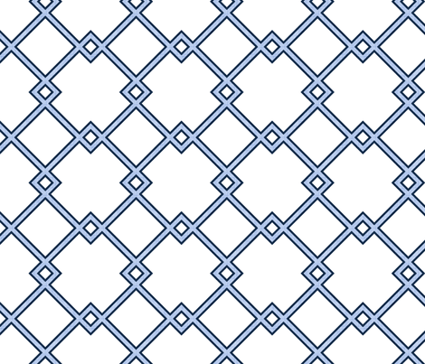 Lattice in sky (petite) fabric by domesticate on Spoonflower - custom fabric