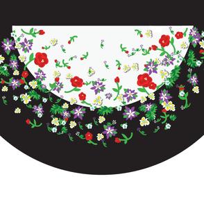 Falling Flowers Circular Skirt