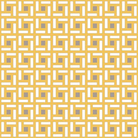 Square Trellis Gray Saffron fabric by lulabelle on Spoonflower - custom fabric