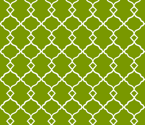 Tuscan Trellis Green fabric by lulabelle on Spoonflower - custom fabric