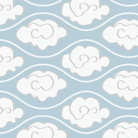 Pearly Silver Lining fabric by janelle_wooten on Spoonflower - custom fabric