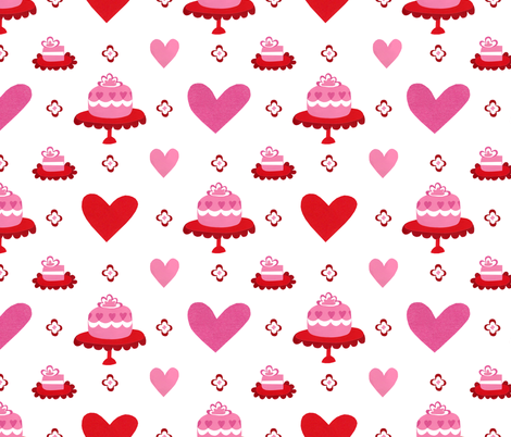 Cake Love fabric by super_hoot on Spoonflower - custom fabric