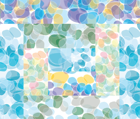 Sea Glass - Multi Log Cabin fabric by owlandchickadee on Spoonflower - custom fabric