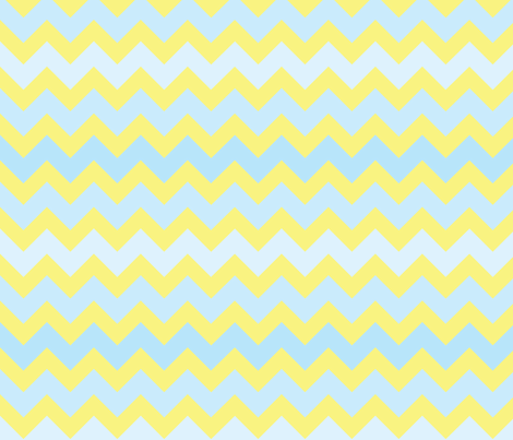 fun-with-chevrons-sun-sky fabric by owlandchickadee on Spoonflower - custom fabric
