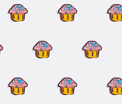 Rainbow cupcake fabric by durban on Spoonflower - custom fabric