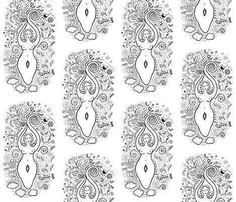 Goddess fabric by angelwolf on Spoonflower - custom fabric