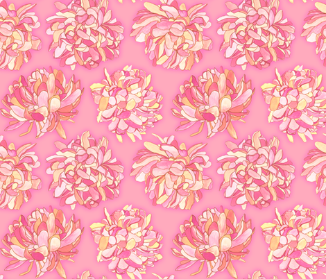 Kristi - Flora fabric by katrinazerilli on Spoonflower - custom fabric
