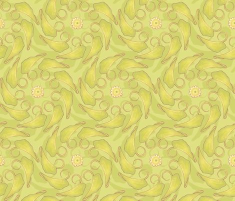 Kristi - Leaves fabric by katrinazerilli on Spoonflower - custom fabric