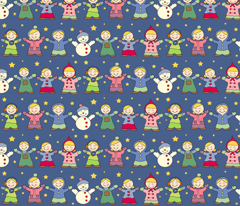 Winter Wonderland and Stars fabric by anikabee on Spoonflower - custom fabric