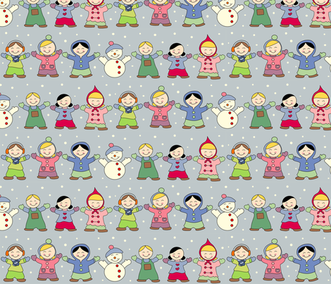 Winter Wonderland and Snow fabric by anikabee on Spoonflower - custom fabric