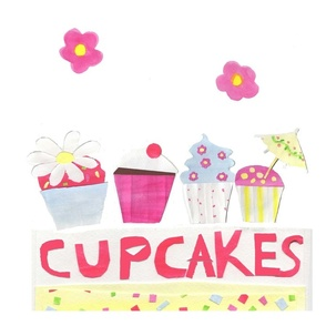 Cupcake Fat Quarter Panel, ATD 701