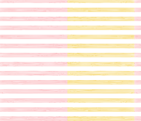 music score stripe - cherry mustard fabric by gingerme on Spoonflower - custom fabric