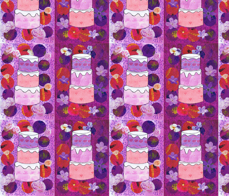 Cakes fabric by alexsan on Spoonflower - custom fabric