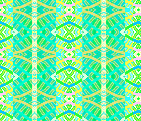 Common Ground  by respecting differences (green blue)July 8 2012 by evandecraats  fabric by _vandecraats on Spoonflower - custom fabric