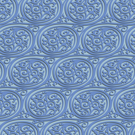Curlyswirl (blue) fabric by bippidiiboppidii on Spoonflower - custom fabric