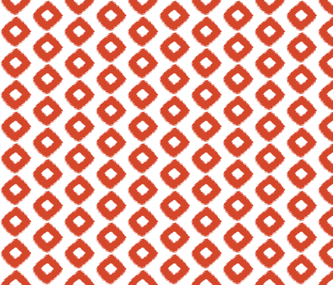 Ikat Square Mango fabric by lulabelle on Spoonflower - custom fabric