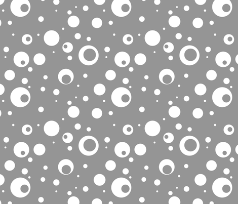 Dotty Grey fabric by aftermyart on Spoonflower - custom fabric