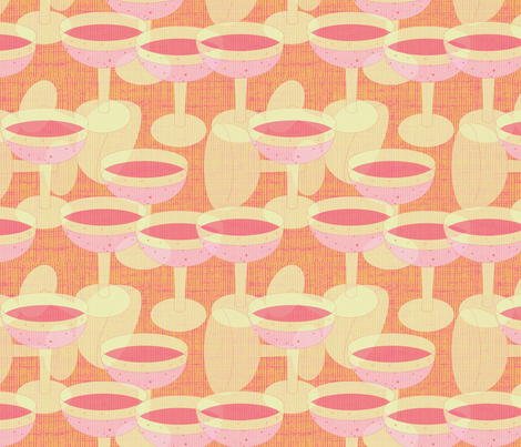 Pink Champagne - 2 fabric by owlandchickadee on Spoonflower - custom fabric