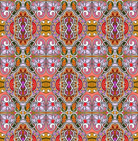 Orange Heartflower Seranade fabric by edsel2084 on Spoonflower - custom fabric